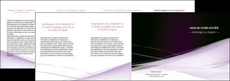 impression depliant 4 volets  8 pages  reseaux texture contexture structure MLGI93099