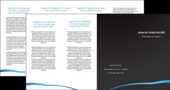 faire depliant 4 volets  8 pages  web design texture contexture structure MLGI93761