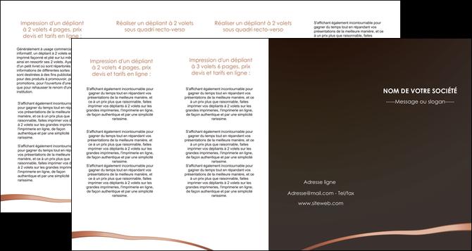 faire depliant 4 volets  8 pages  web design texture contexture structure MLGI93999