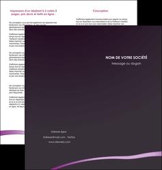 impression depliant 2 volets  4 pages  web design texture contexture structure MIF94017