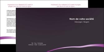 creer modele en ligne depliant 2 volets  4 pages  web design texture contexture structure MIF94019