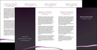 modele depliant 4 volets  8 pages  web design texture contexture structure MIF94055