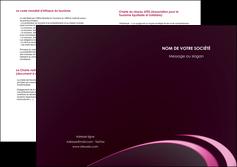 exemple depliant 2 volets  4 pages  contexture structure fond MLGI94327
