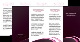 realiser depliant 4 volets  8 pages  contexture structure fond MLGI94353