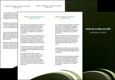 realiser depliant 3 volets  6 pages  texture contexture structure MLGI94365