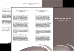 cree depliant 3 volets  6 pages  web design texture contexture structure MLIG94521