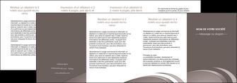 cree depliant 4 volets  8 pages  web design texture contexture structure MLIG94563