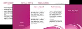 faire modele a imprimer depliant 4 volets  8 pages  texture contexture structure MLGI94615