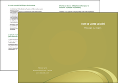realiser depliant 2 volets  4 pages  texture contexture structure MLGI94639