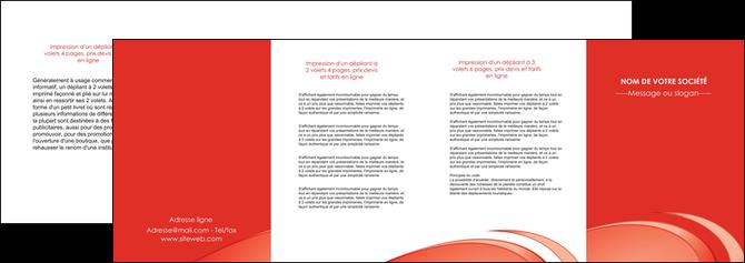 faire modele a imprimer depliant 4 volets  8 pages  web design texture contexture structure MLIG95011