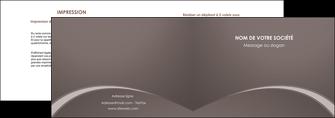 cree depliant 2 volets  4 pages  web design texture contexture structure MID95269