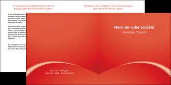personnaliser maquette depliant 2 volets  4 pages  web design texture contexture structure MIDCH95515