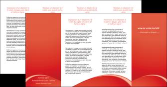 impression depliant 4 volets  8 pages  web design texture contexture structure MIDCH95551