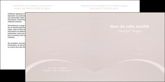 impression depliant 2 volets  4 pages  web design texture contexture structure MIF95567