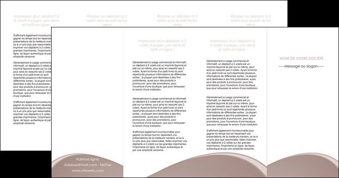 realiser depliant 4 volets  8 pages  texture contexture structure MID96019