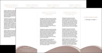 realiser depliant 4 volets  8 pages  texture contexture structure MLGI96019