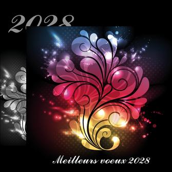 cree flyers carte de voeux 2028 voeux nouvelle annee cartes de voeux MLGI98599