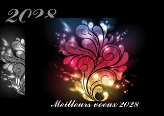 realiser flyers carte de voeux 2028 voeux nouvelle annee cartes de voeux MLGI98601